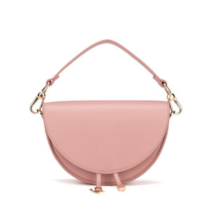 Designer-2020 fashion new high quality mini solid color semicircle design casual one shoulder messenger bag free shipping
