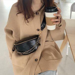 Women Chest bag Diamond pattern sling bags Quality PU Leather Small Shoulder Messenger Bag Lady purses black wallet