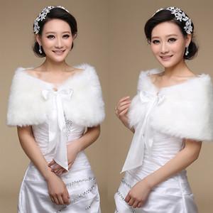 2020 Women Wedding Jacket Fur Bolero Wraps Outerwear Winter Warm Bride Accessories