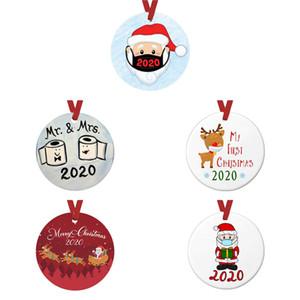 معلقة 2020 الحجر زخرفة عيد الميلاد شجرة عيد الميلاد الديكور هدية عائلة زخرفة مع حزب PVC هدية