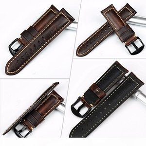 Maikes Watch Accessories Watch Band 20mm 22mm 24mm 26mm Special Oil Wax Leather Watch Strap Watchbands For Panerai Iwc Y19070902