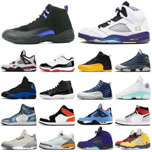 air retro 1 11 12 13 5 4 Outdoor-Basketballschuhe gezüchtet 1s 11s Concord 12s Indigo 13s Flint 5s was die 9s Segel 4s Damen Herren Trainer Sport Sneakers
