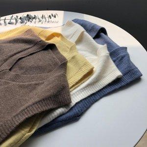 Stile Breve di lana Gilet Loose Women autunno 2020 nuovo stile coreano con scollo a V senza maniche Maglione