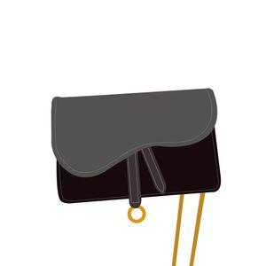 Designer de luxo handbags carteira mulheres bolsa de couro genuíno com bordados Crossbodybag Saddle Handbag alta qualidade saco