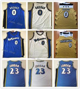 Heißer Verkauf Männer Gilbert Arenas 0 Trikots Basketball Blau Weiß Gelb Hemden Benutzerdefinierte Name Jede Nummer