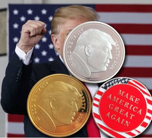 2020 Donald Trump Commemorative Coin American President Make America Great Again Gold Coins Silver Badge Metal Craft Collection Republican
