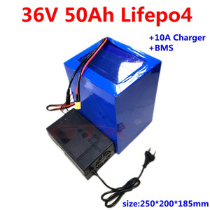 bateria GTK Lifepo4 36V 50Ah 40AH lítio ebike 50Ah recarregável para Scooter elétrico bicicleta UPS solares + carregador