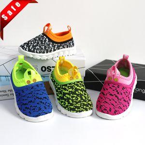 Neue weiche Kinderschuhe Unisexschuhe Süßigkeit-Farben-gesponnenes Gewebe Air-Mesh-Kind-beiläufige Turnschuhe
