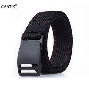 CANTIK العلامة التجارية الجديدة اسم الجودة كل مباراة للجنسين نايلون حزام الشريحة POM الإبزيم نموذج عارضة الجينز اكسسوارات 3.8CM العرض CBCA121