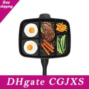 Главная Фрайер Pan Non -Stick 5 В 1 сковорода гриль Разделенные Fry Oven Meal Skillet 15 Quot, черный Кухня Посуда для кухни