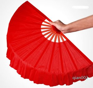 41cm Solid Black Red Folding Handfächer Craft Tanz Performce Hochzeit Souvenir Dekoration liefert Z11023