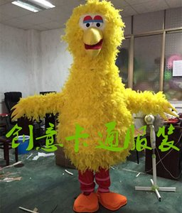 Plume jaune corps éponge adulte Big Bird Costume Mascot Livraison gratuite de haute qualité Cartoon costume de mascotte pour l'étape Performance