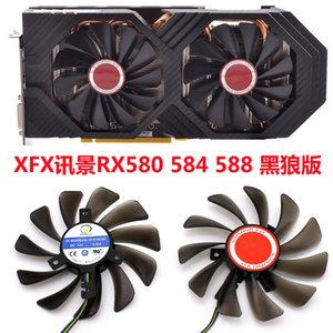 for XFX RX580 RX584 RX588 Graphics Video Card Cooling fan Diameter 95MM Pitch 40MM