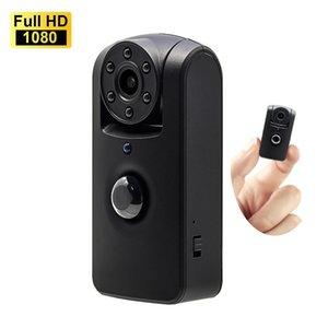 Lâmpadas LED MINI PIR Motion Detection Camera IR Night Vision 6 Lens rotação Wide Angle 140 Degree Longtime Standby HD 1080p Memor
