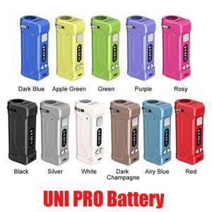 Original Yocan UNI PRO Box Mod 650mAh Pré-aqueça o VV bateria para 510 Thick Oil Vape Todos Largura Cartucho Ecig com display OLED 100% Authentic