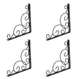 4pcs Mensola Staffa d'angolo Brace Scroll Parete Soggiorno Triangle Support