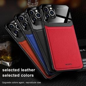 Дело в бизнесе Чехол для iPhone 12 11 Pro Max XS Max PU кожаный закаленный стекло телефон задняя крышка для iPhone 7 8 6 6S PLUS XR MAX COQUE