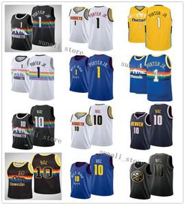 2020 Новый Мужчины Basketball # 1 Майкл Портер младших рубашек # 10 Бол Бола трикотажных изделий Голубых Белые Черная Радуга горячий