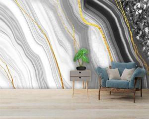 Fond d'écran 3D personnalisés Photo Murale style européen Marbre Motif Salon Chambre Wallcovering HD Wallpaper