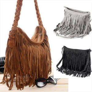 2019 HOT Fashion Womens Shoulder Bag Bohemian Fringe Woven Large Capacity Messenger Bag handbag Drop Shipping