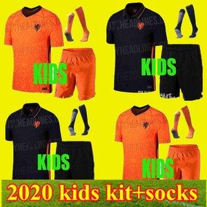 2020 European Cup Memphis bambini tuta bianca Maglie 20 21 Paesi Bassi casa lontano bambino F.DE JONG VIRGIL calcio camicia del ragazzo di sport