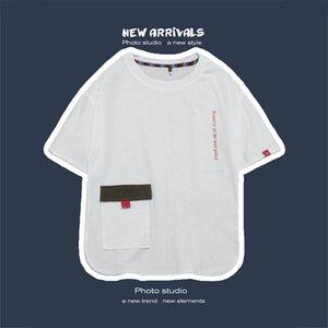 iiDossan 2020 nuevos hombres camiseta con bolsillos verano camiseta Mujeres Streetwear Tees japonesa Harajuku Tops Hiphop manera de las camisas