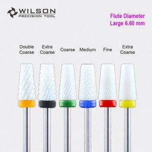 6,60 Mm Cono Bit WILSON bianco chiodo ceramica Drill Bit Cure #