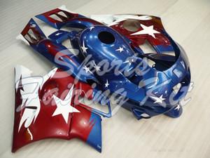 هدية مجموعات للCBR600F2 1991-1994 أزرق أبيض العلم الاحمر هدية للدراجات النارية CBR600F2 1994 عبس هدية CBR600F2 1993