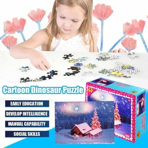 Landscape 1000 Pieces Snow house Puzzle Toys Adults Children Paper Assembling Picture Landscape Games Educational Toy