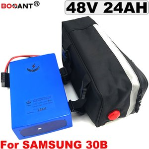 E-bike Lithium Battery for Original Samsung 30B 18650 48V 24AH For Bafang BBSHD 1200W Motor Electric Bicycle +a Bag