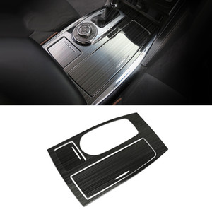 Car Accessories Gear Shift Panel Frame Trim Sticker Cover Stailess Interior Decoration for Nissan Patrol Y62 2010-2019