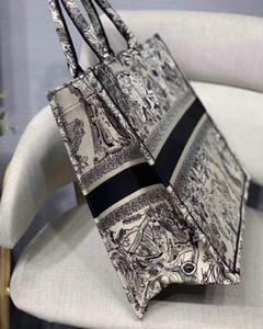 Melhor Qualidade Classic Livro Colorido Totes Bag Designer Bolsa Bolsa Bordada Bolsa Grande Capacidade Viagens Canvas Saco Saco Customizável Nome