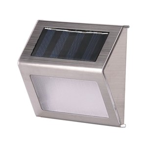 Solar Stair Lamp 3led Stainless Steel Lamp Wall Lamp Outdoor Fence Step Light Courtyard Water Resistant