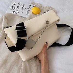 Elegant Female Casual Hand Bag 2019 Fashion New High Quality PU Leather Womens Designer Handbag Fold Shoulder Messenger Bag