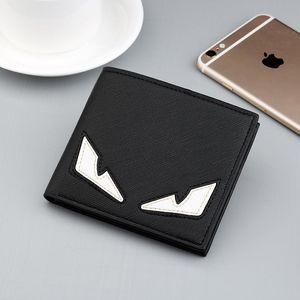 Designer-Designer Wallet Mode-Marken-Männer Geldbörsen Leder Monster-Augen-Karten-Mappe Junge Studentengeldbörsen High Quality