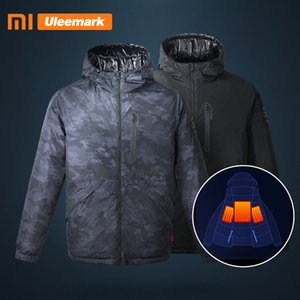 Men's Electric Heated Down Jacket Hooded Lightweight Waterproof Winter Coat Xiaomi Uleemark