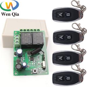433MHz Universale telecomando wireless DC5V 12V 24V 2CH rf Relay e trasmettitore a distanza garage / Gate / Motore / Light / elettrodomestico