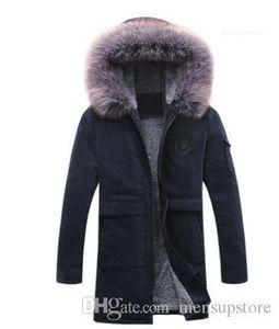 Fur Fleece Down Coats Mens Casual Designer Down Parkas Winter Autumn Fashion Hooded