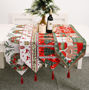 New Christmas home decoration products knitted table flag creative Christmas tablecloth table decoration home dress up