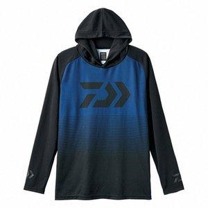 Estate Pesca Cappuccio Abbigliamento Quick-Dry Ice-raffreddare Zipper Sun Protection manica lunga con cappuccio escursionismo pesca Camicie vNHt #