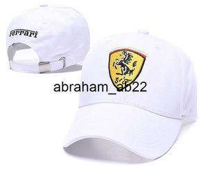 Ferrari car cap hat  f1 cap DC Corrida de chapéus de basebol de golfe para homens mulheres do esporte Casual viseira Hat gorras atacado Snapback Caps chapéu Casquette pai óssea