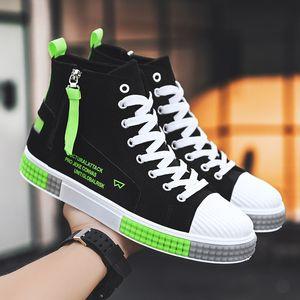 Otoño de moda, zapatos, zapatos para hombre otoño lona Casual zapatos Junta de alta Top Versión coreana del todo-fósforo zapatos del estudiante Juvenil