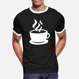 Чашка теплого Bitter кофе T Shirt Men Печать Tee Shirt S-XXXL Letters Graphic Смешной лето оригинал рубашка