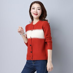 coat malhas Af2zZ 2019 Outono Nova coreano casaco estilo knitwear longo de manga curta soltas para as mulheres