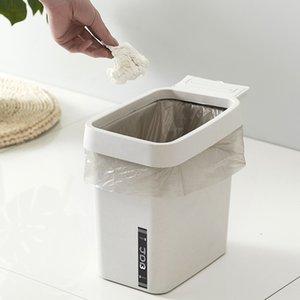 Творческий японский стиль Мусорное ведро Простой большой емкости для хранения Bin ванной Dustbin Gap Corner Waste Can для кухни использования в офисе