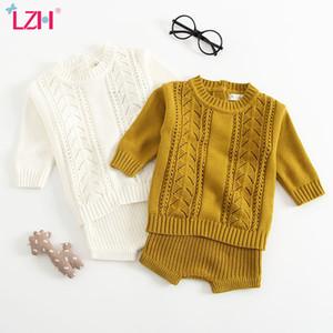 LZH Neugeborene Kleidung 2020 Herbst-Winter-Baby-Mädchen-Kleidung stellte Stricken Pullover + Shorts 2pcs Kinder-Ausstattungs-Klage-Baby-Kleidung