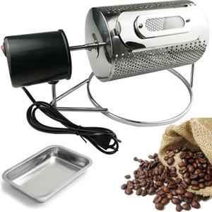Stainless Steel Coffee Roasters Rotary Bean Nuts grano cottura macchina regalo vassoio caffè Espresso Kahve Makineleri 110V / 220V