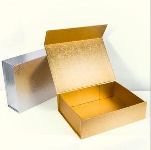 속옷 의류 화장품을위한 하이 엔드 일반 선물 장난감 상자 두꺼운 두꺼운 종이 접기 딱딱한 상자 자기 폐쇄 포장