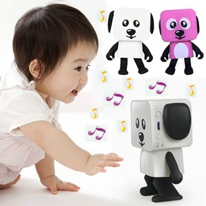 Mini Wireless Bluetooth Speaker Dancing Robot Dog Stereo Bass Speakers Electronic Walking Toys Kids Gifts Speaker Party Free DHL WX9-195