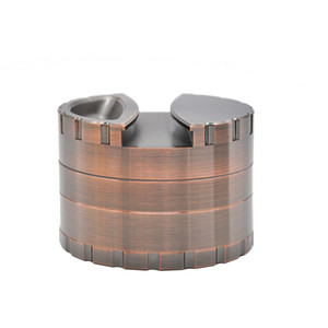 Pesada de aleación de zinc Grinder Dia.80MM 4 capas Tabaco Grinder Trituradora de hierbas de la especia Grinder / Con soporte de almacenamiento
